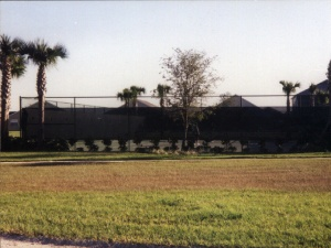 Tennis court circa 1999