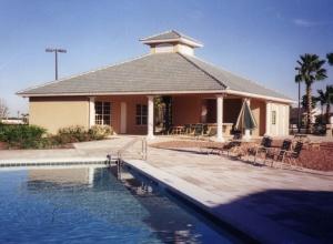 Pool area circa 2004